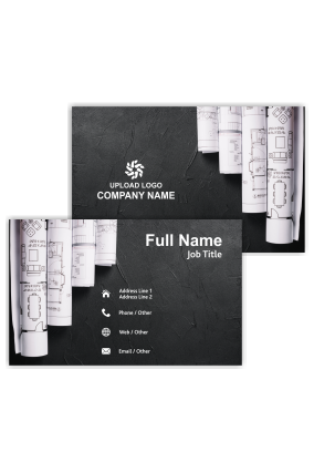 Building Blueprints Architecture Visiting Card