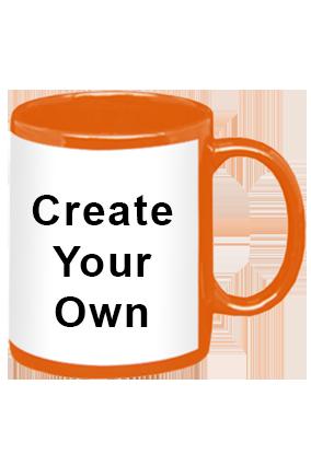 Create Your Own Orange Patch Mug