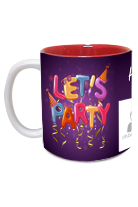 Lets Party Personalized Birthday Inside Pink Mug