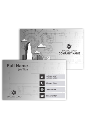 Trendy and Simple Architecture Visiting Card