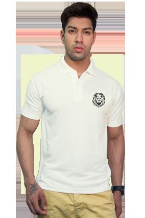 Effit Animal Print Collar T-Shirt
