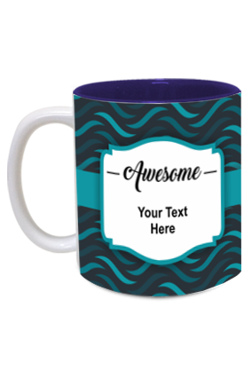 Awesome Personalized Designer Inside Blue Mug
