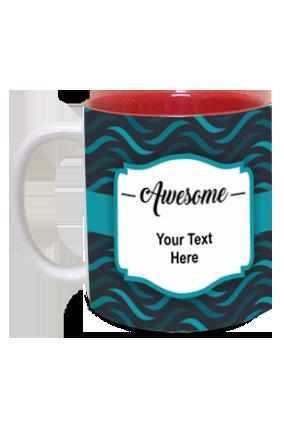 Awesome Personalized Designer Inside Red Mug