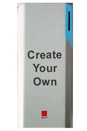 Create Your Own iBall Power Bank 10000 mAh - PB10017 (White + Blue)