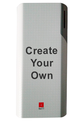 Create Your Own iBall Power Bank 10000 mAh - PB10017 (White + Grey)