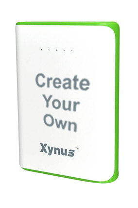 Create Your Own 10400mAh Xynus Power Bank Green