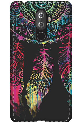 3D - Lenovo K8 Note Abstract Design Mobile Cover