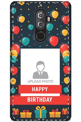 3D - Lenovo K8 Note Balloons Birthday Mobile Cover