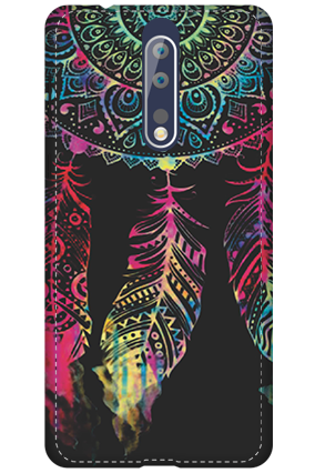 3D - Nokia 8 Abstract Design Mobile Cover