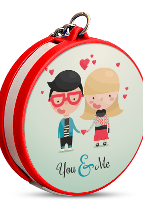 You & Me Keychain with Data Cable