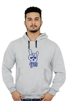Awesome Yo Printed Full Sleeves Hoodie