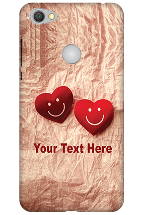 Personalised 3D-Xiaomi Redmi Y1 White High Grade Plastic Smiley Heart Mobile Cover