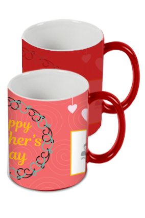 Dusky Red Mother's Day Red Magic Mug