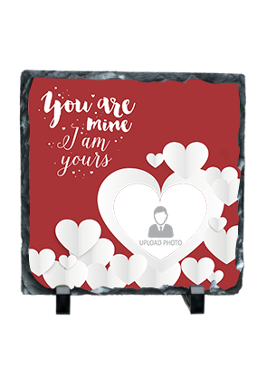 I Am Yours Personalized Valentine Square Photo Rock