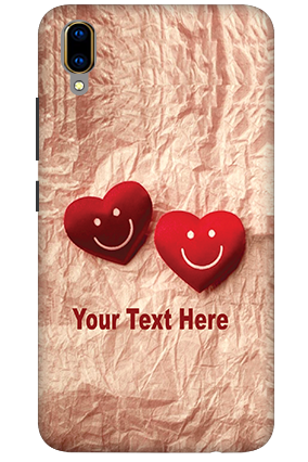 3D - Vivo V11 Pro White High Grade Plastic Smiley Heart Mobile Covers