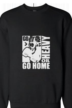 Go home White Print Black Sweatshirt