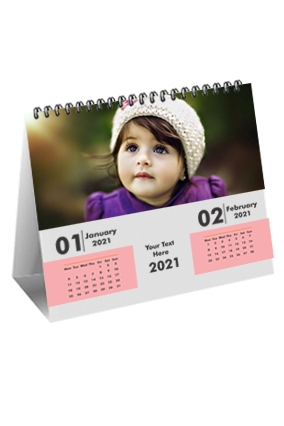 Cute Baby Desk Photo Table Calendar(10 x 8 Inches) - 6 Leaves