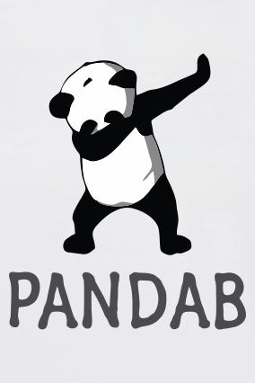Trendy Pandab Round Neck Dri-fit White T-shirt