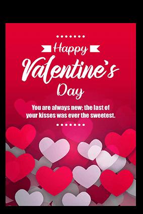 Beautiful Valentine's Day Greeting Card