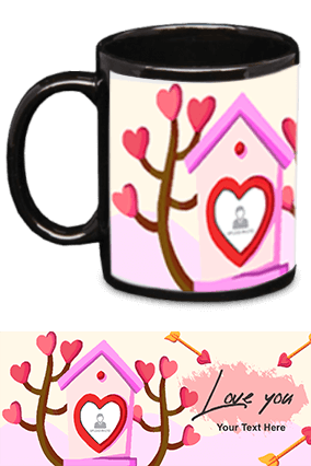 Love You Black Patch Mug