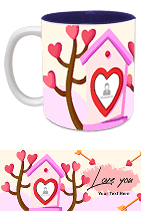 Love You Inside Blue Mug