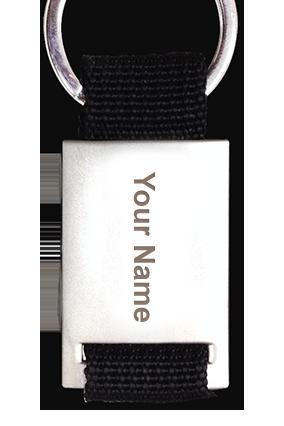 Black Strap Keychain BKC-574