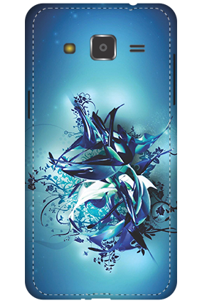 3D - Samsung Galaxy J2 Blue Pheonix Mobile Cover