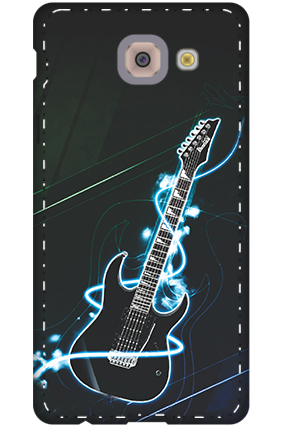 3D-samsung galaxy j7 Max Lightning Guitar Mobile Cover