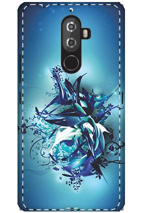 3D - Lenovo K8 Note Blue Pheonix Mobile Cover