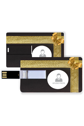 Black and Golden Gift Box Plastic Credit Card Pen Drive