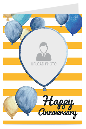 Happy Anniversary with Balloons Greeting Card