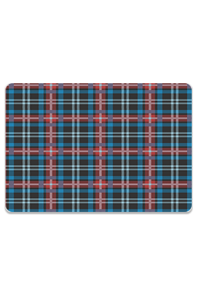 Blue and Red Fabric Check Leminated Table Mat