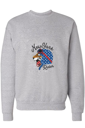 New York Rider Cotton Gray Sweatshirt