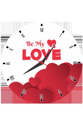 Be My Love Round Valentine Clock
