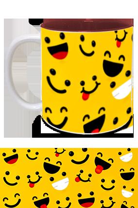 Laughing Smiles Printed Inside Maroon Mug