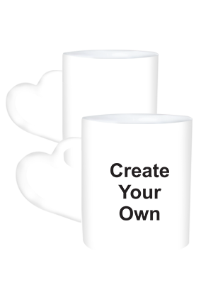 Create Your Own Heart Handle White Mug