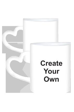 Create Your Own Heart Handle White Mug