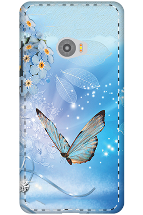 3D-Xiaomi Mi Note 2 Blue Butterfly Mobile Cover