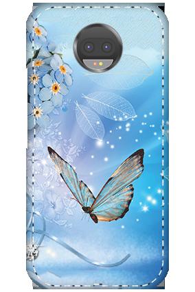 3D - Motorola Moto G5s Plus Blue Butterfly Mobile Cover