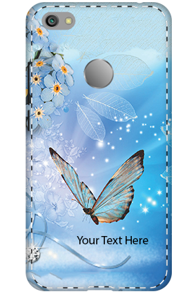 3D - Xiaomi Redmi Note 5A Blue Butterfly Mobile Cover