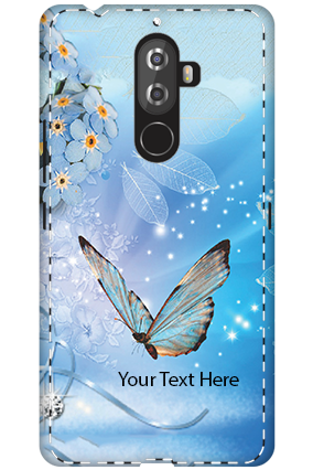 Personalised 3D-Lenovo K8 Note Blue Butterfly Mobile Cover
