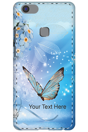 3D - Vivo V7 Plus Blue Butterfly Mobile Cover