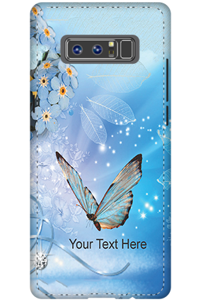 Personalized 3D-Samsung Galaxy Note 8 Blue Butterfly Mobile Cover