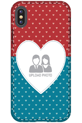 Customize 3D-Apple iPhone X Colorful Heart Valentine's Day Mobile Cover