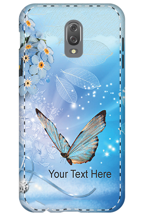 3D - Infinix Hot 4 Blue Butterfly Mobile Cover