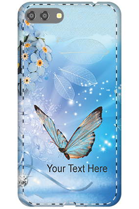 3D - Asus Zenfone 4 Max Blue Butterfly Mobile Cover