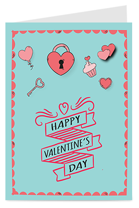 Designer Hearts Valentine Greeting Card