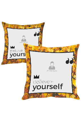 Believe in Yourself Polyester Cushion Cover
