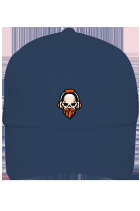Skull with Beard Cotton Blue Cap