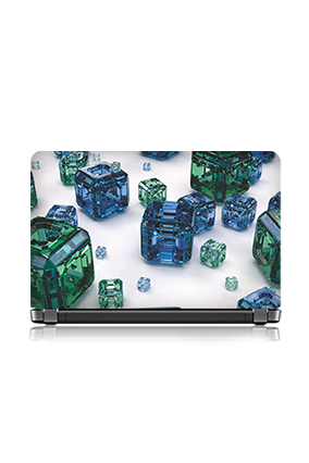 Printed Bubbled Blue Laptop Skin